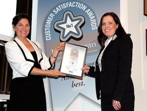 ALDI Group Buying Director, Jennifer Scott, accepting ALDI's award