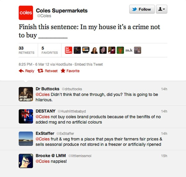 Coles learns lesson from other brands' social media fails… just kidding