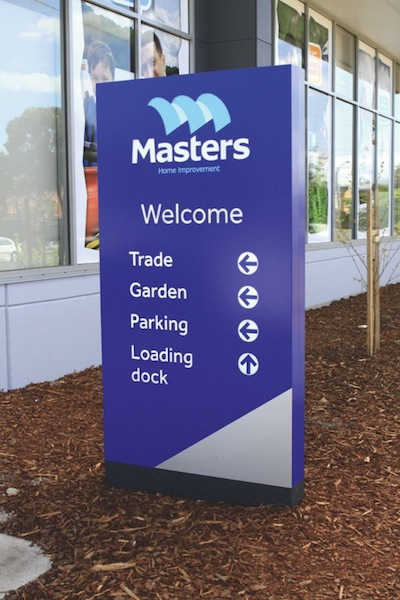 Masters external nav sign