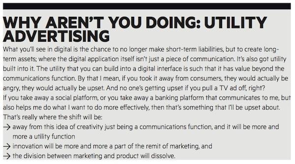 Utility advertising