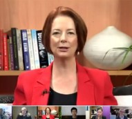 Gillard labelled 'immoral' and 'Chairman Mao' during Google+ Hangout