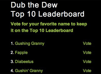 'Diabeetus', 'Gushing Granny': Mountain Dew crowdsourcing goes wrong