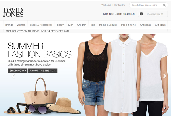 David Jones launches new ecommerce shopfront as customers flock online