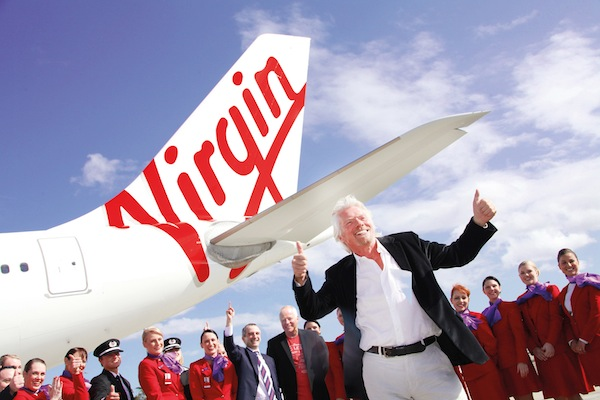 Richard Branson Virgin Australia aircraft