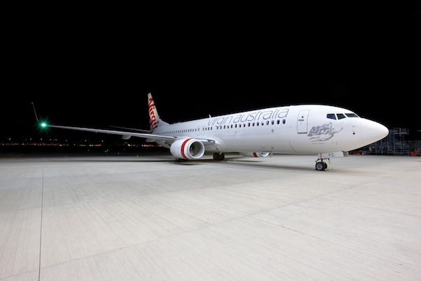 Virgin Australia aircraft exterior on tarmac