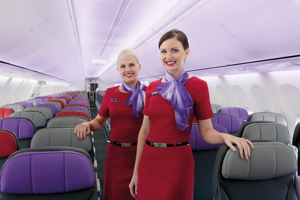 Virgin Australia interior and cabin crew