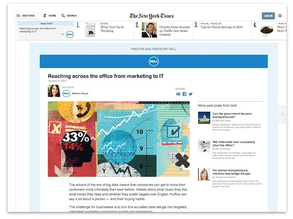 NYT native ad screengrab - Marketingmagcomau