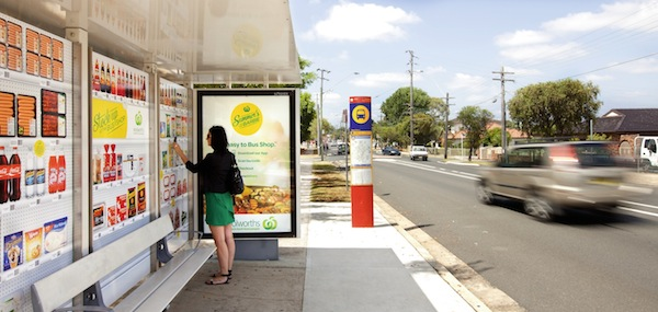 Woolworths bus shelter