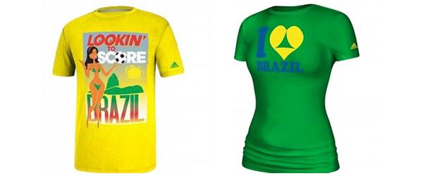 Adidas Brazil tshirts