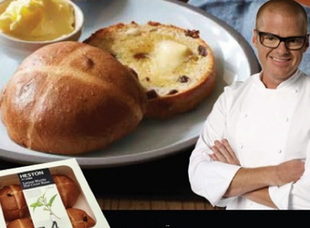 Coles lets Australia smell Heston's buns in national print campaign