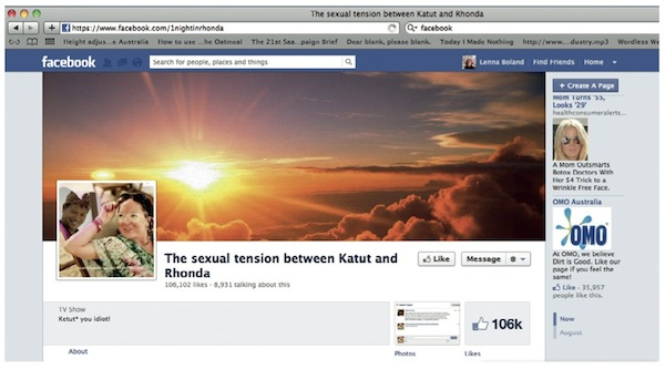Rhonda and Ketut sexual tension fan page