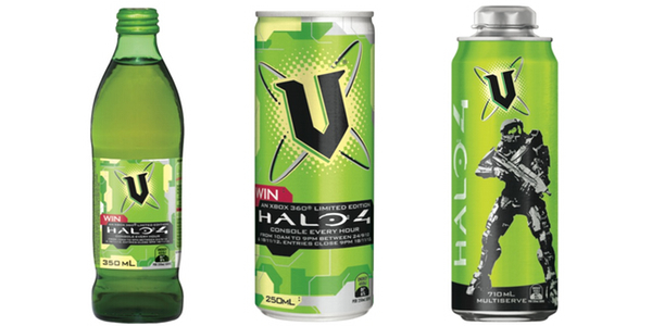 v halo packaging green