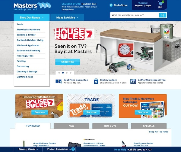 Masters new ecommerce site