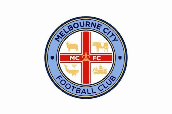 Melbourne City FC logo badge crest 600w