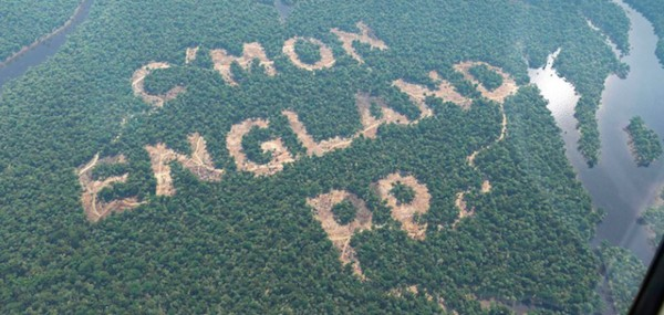 Paddy Power World Cup rainforest stunt