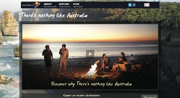 Tourism Australia video player 1