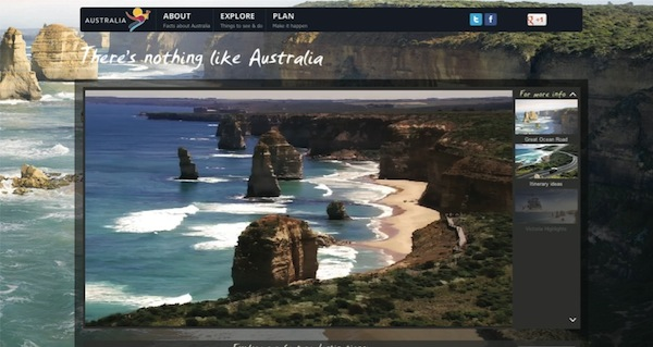 Tourism Australia video player 2
