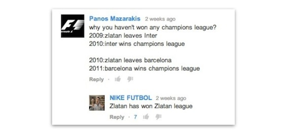 Ask Zlatan comment