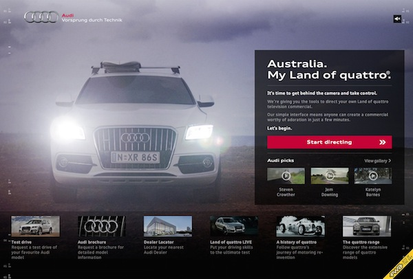 Audi Land of Quattro campaign website 600w