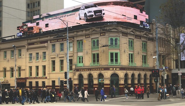 Audi Land of Quattro outdoor advertising Melbourne 600w