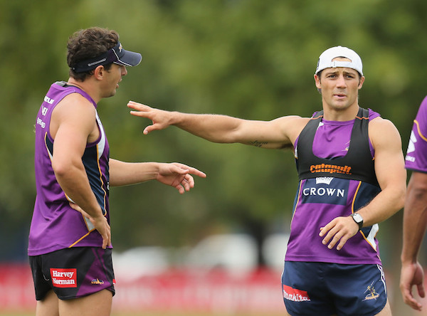 Cooper Cronk Melbourne Storm rugby league team using Catapult sports analytics technology