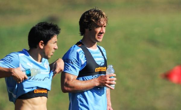 Diego Lugano soccer football player for Uruguay team using Catapult sports analytics technology