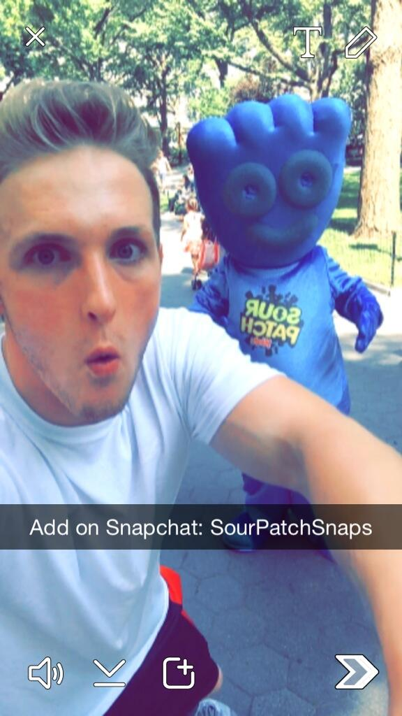 Sour Patch Kids and Logan Paul on Snapchat