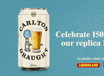 Carlton Draught brings back retro white can and 80s TVC for brand's 150th anniversary