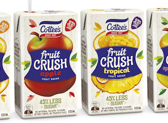 Cottee's enters juice category with Fruit Crush – a healthier alternative to its famous cordial