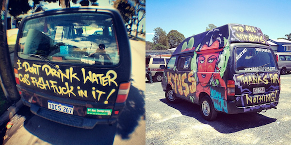 Wicked Campers van slogans