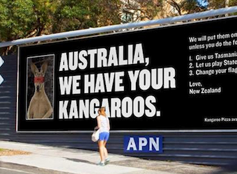 'Australia: we have your kangaroos' – quirky PR stunt from NZ's Hell Pizza