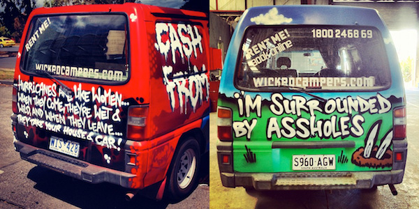 Wicked Campers van slogans 2