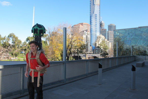 Google Street View Trekker for Tourism Victoria at Federation Square