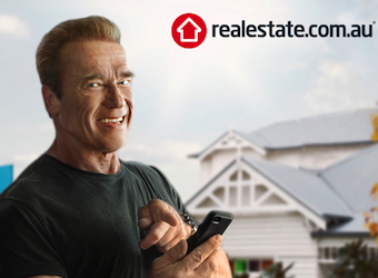 Realestate.com.au enlists Arnold Schwarzenegger to assault Australian screens