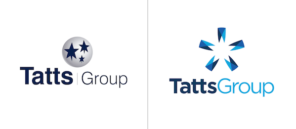 Tatts Group rebrand: new and old logos