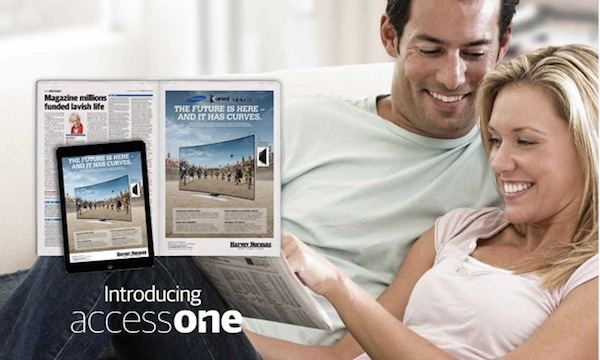 AccessOne News Corp new tablet apps ad