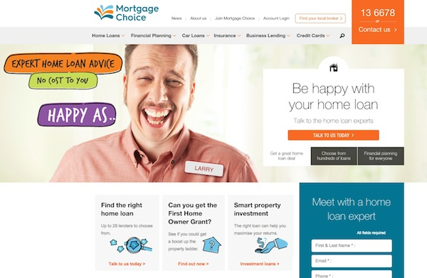 Mortgage Choice HappyAs home page