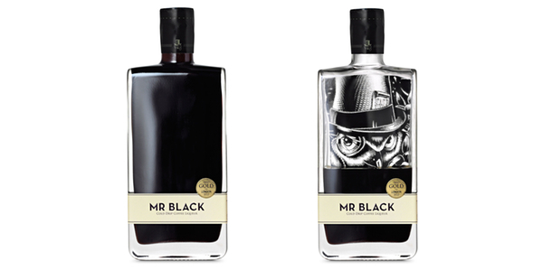 Mr Black packaging empty and full