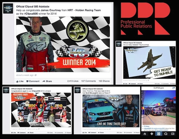 Clipsal 500 social cuttings