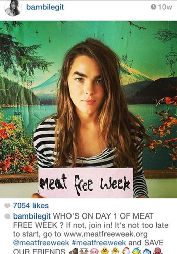 Meat Free Week Bambilegit instagram post