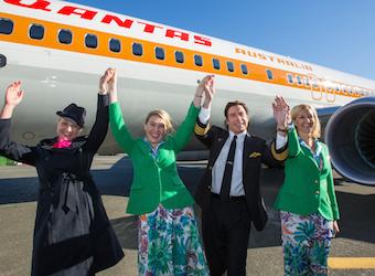 Qantas goes retro to celebrate flying kangaroo logo's 70th birthday