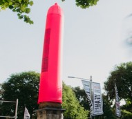 This Sydney monument is wearing a giant pink condom for a week to promote safe sex