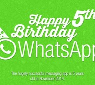 Infographic: WhatsApp celebrates five years of revolutionising instant messaging