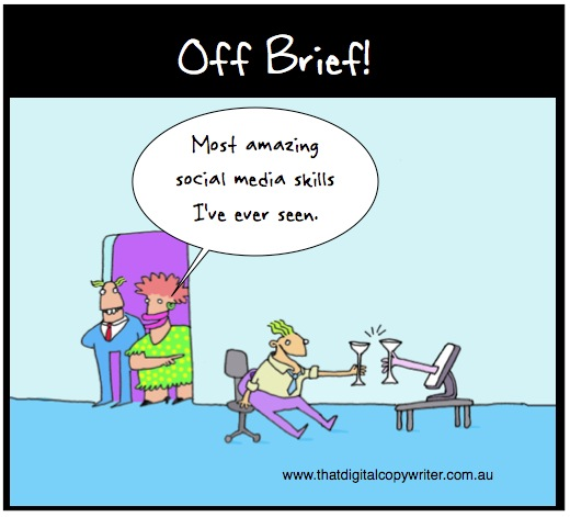 Amazing social skillz off brief cartoon