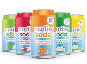 Nudie & Soda tackles the 'nasty' soft drink category with 50% fruit juice new products