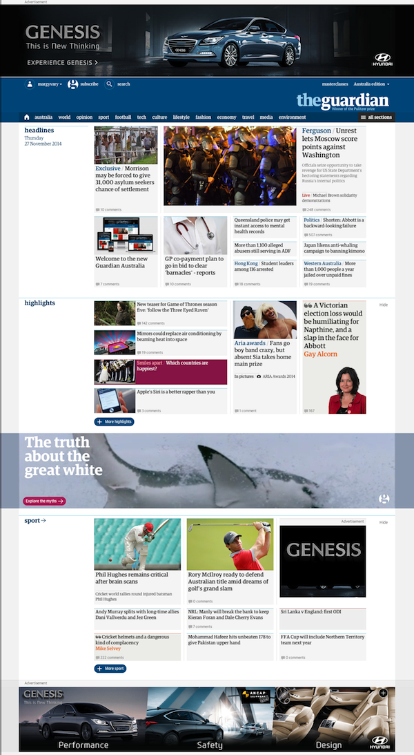 The Guardian new website