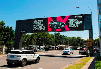 Lexus interactive billboards: 'direct messaging on steroids'