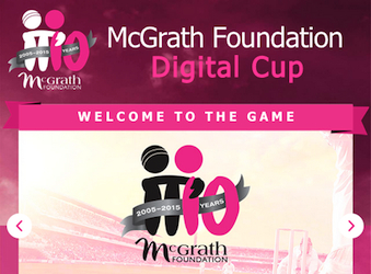McGrath Foundation Digital Cup gamifies fundraising