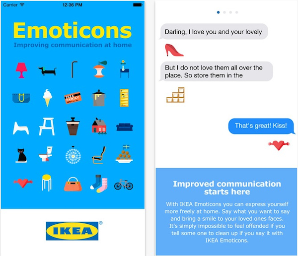 ikea emoticons shoes
