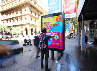 Designer filters for the selfie-lovers of Sydney in new art gallery outdoor campaign